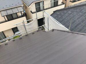 施工後の黒い屋根補修終了