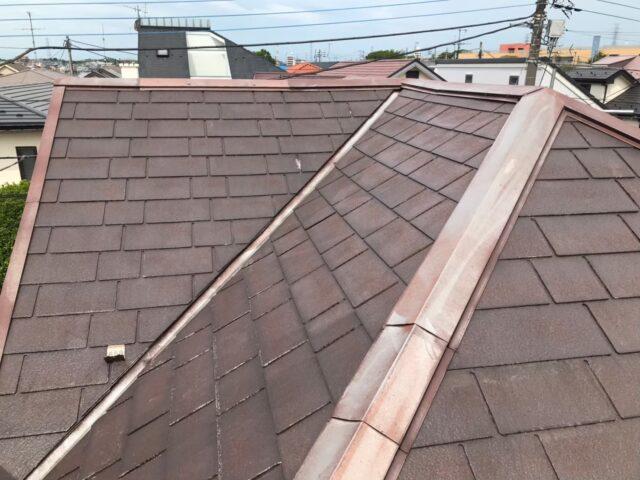 施工前の茶色い屋根