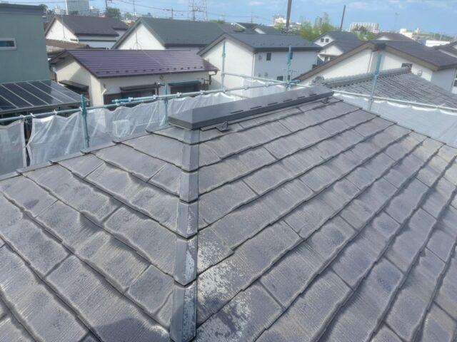 施工前の藻や苔の付いた屋根