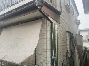 塗装前の戸建