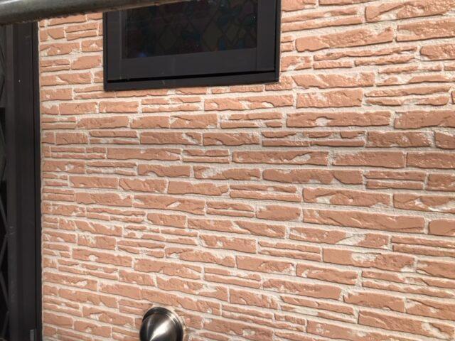 外壁塗装前のベージュの外壁