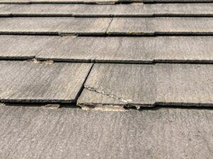 ひび割れした屋根