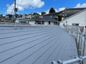塗装完了した屋根