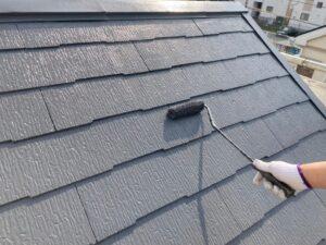 塗装され綺麗なグレーに仕上がった屋根